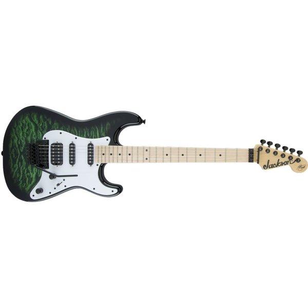 Jackson X Series Signature Adrian Smith SDXQ, Maple Fingerboard, Transparent Green