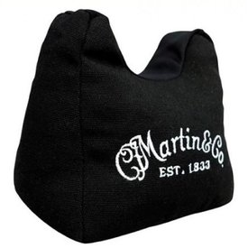 Martin Martin 18A0076 Acoustic Guitar Neck Rest Holder Bean Bag with White Logo, Black