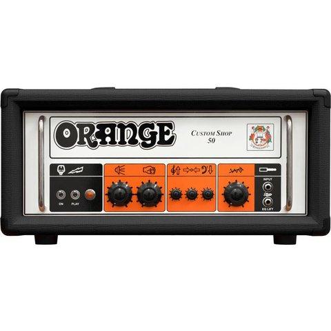 Orange Custom Shop CS50 Black 50 Class A/B, 30 Watt Class A, Handwired, Single Channel, foot-switchable EQ Lift