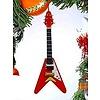 Electric Guitar V Ornament Natural Wood