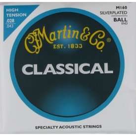 Martin Martin M160 Nylon Ball End Classical Guitar Strings High Tension