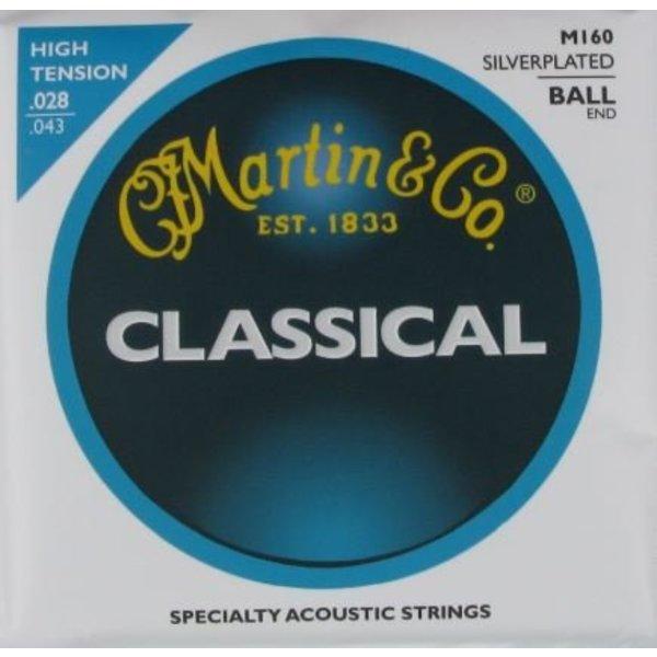 Martin Martin M160 Nylon Ball End Classical Guitar Strings High Tension