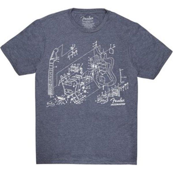 Fender Fender Jazzmaster Patent Drawing T-Shirt, Blue, XXL