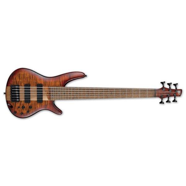 Ibanez Ibanez SR Standard 6str Electric Bass - Brown Topaz Burst Flat