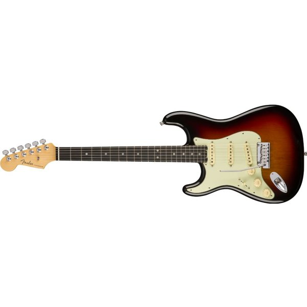 Fender American Elite Stratocaster Left-Hand, Ebony Fingerboard, 3-Color Sunburst
