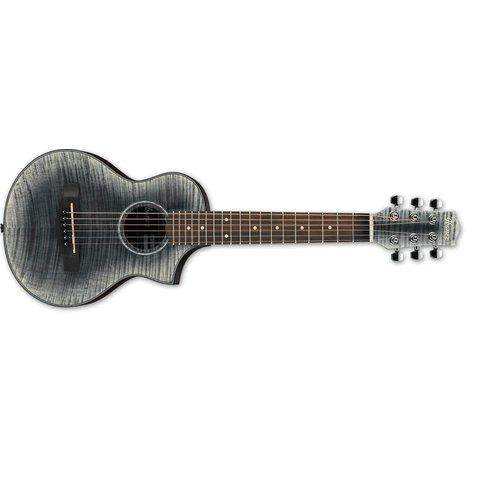 Ibanez EWP Piccolo  6Str Acoustic Guitar - Glacier Black Open Pore