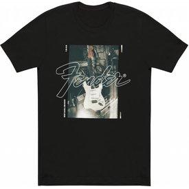 Fender Fender Stratocaster Men's Black T-Shirt, XXL