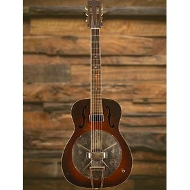 National Harmony Supertone Round Neck w/ Lace Pickup install & Orig Case