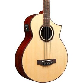 Ibanez Ibanez AEWB Bass 4Str Acoustic/Electric Guitar - Natural High Gloss