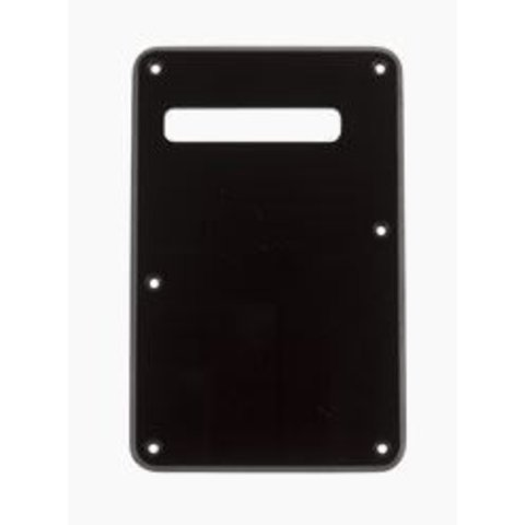 Backplate, Stratocaster, Black, 1-Ply