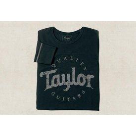 Taylor Taylor Men's LS Thermal Aged Logo Black - M Long Sleeve T