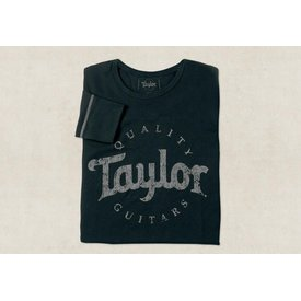 Taylor Taylor Men's LS Thermal Aged Logo Black - S Long Sleeve T