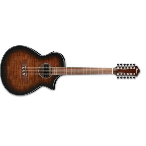 Ibanez AEWC 12Str Acoustic/Electric Guitar - Tiger Burst High Gloss
