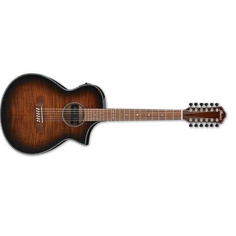 Ibanez AEWC 12Str Acoustic/Electric Guitar - Tiger Burst High Gloss