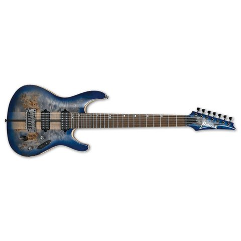 Ibanez S Premium 7str Electric Guitar w/Case - Cerulean Blue Burst