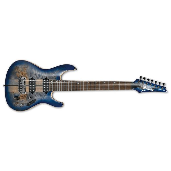 Ibanez Ibanez S Premium 7str Electric Guitar w/Case - Cerulean Blue Burst