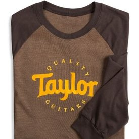 Taylor Taylor Baseball T Long Sleeve Brown - XL Long Sleeve T