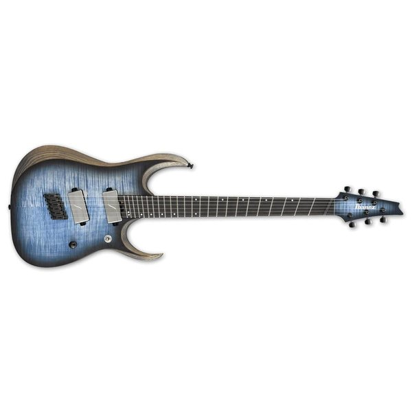 Ibanez Ibanez RGD Iron Label Multi Scale 6str Electric Guitar - Cerulean Blue Burst Flat