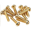 Pickup and Selector Switch Mounting Screws (12) (Gold)