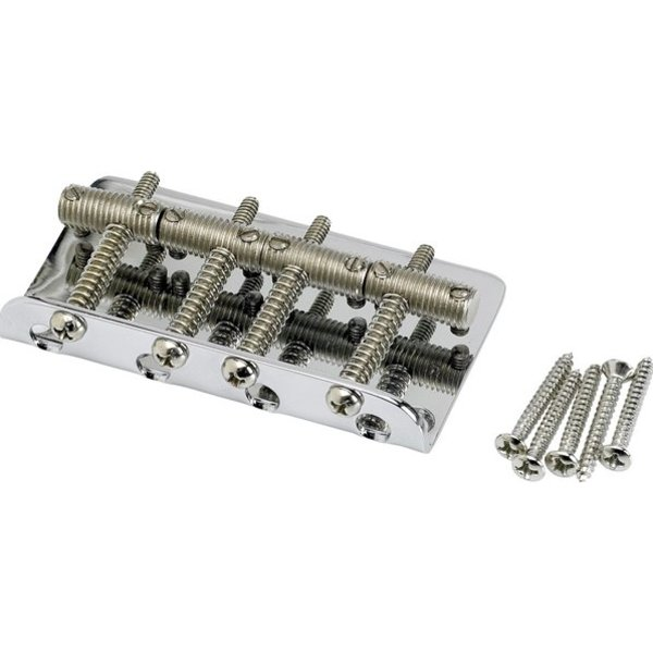 Fender Pure Vintage Bass Bridge Assembly, Nickel/Chrome