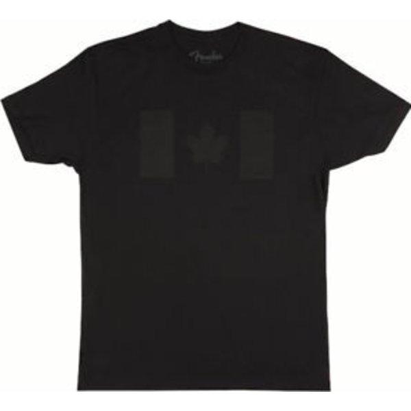 Fender Fender Canadian Flag Blackout T-Shirt, Black, M