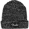 Fender Chunky Knit Beanie, Black & White