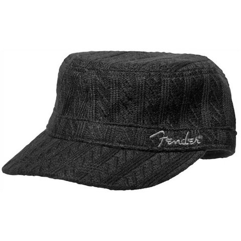 Fender Military Sweaterknit Hat, Black, One Size Fits Most