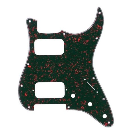 Pickguard, H/H Stratocaster, 11-Hole Mount, Tortoise Shell, 4-Ply