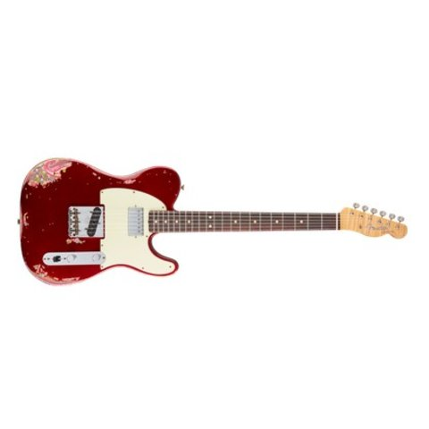 Limited Edition Heavy Relic H/S Tele, Candy Apple Red over Pink Paisley