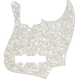 Fender Pickguard, Jazz Bass, White Pearloid, 10-Hole Mount, 4-Ply