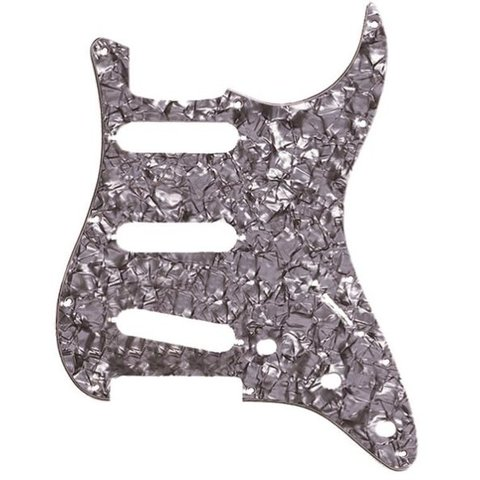 Pickguard, Stratocaster S/S/S, 11-Hole Mount, Black Pearl, 4-Ply