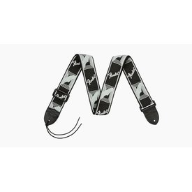 Fender Fender 2'' Monogrammed Strap, Black/Light Grey/Dark Grey