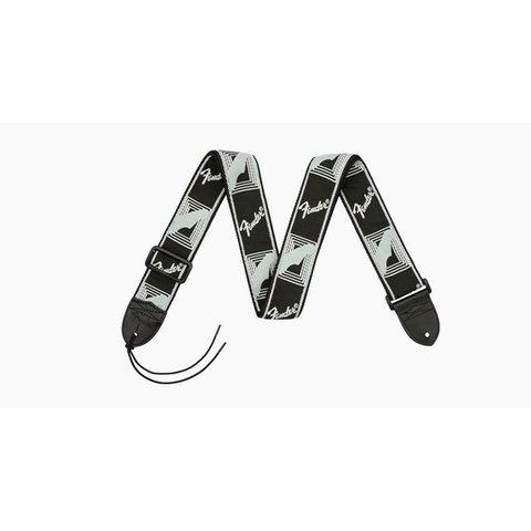 Fender 2'' Monogrammed Strap, Black/Light Grey/Dark Grey