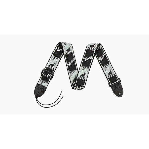 Fender Fender 2'' Monogrammed Strap, Black/Light Grey/Dark Grey