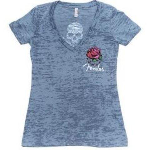 Fender Ladies Skull Roses T-Shirt