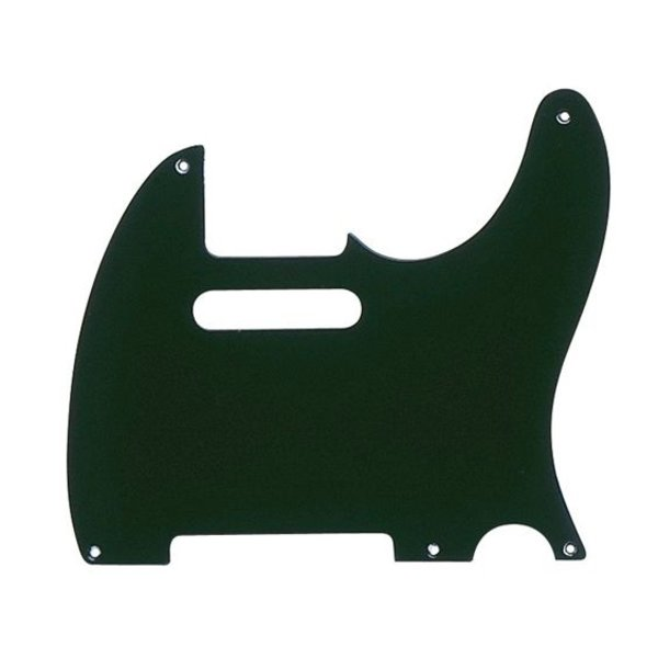 Fender Pickguard, Telecaster, 5-Hole Mount, Black, 1-Ply