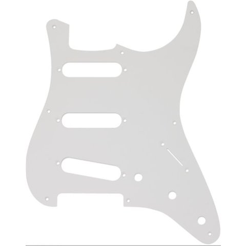 Pickguard, Stratocaster S/S/S, 8-Hole Mount, White, 1-Ply