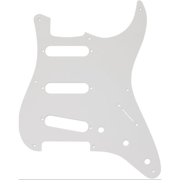 Fender Pickguard, Stratocaster S/S/S, 8-Hole Mount, White, 1-Ply