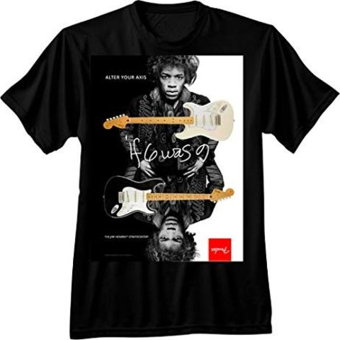 Fender Jimi Hendrix Collection Alter Your Axis T-Shirt, Black, XL