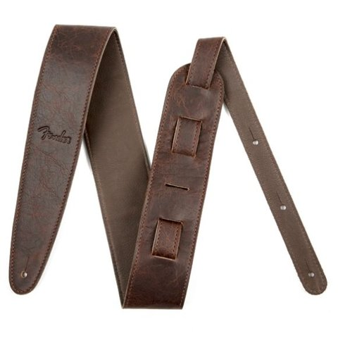 Artisan Crafted Leather Strap, 2.5'' Brown