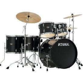 TAMA TAMA Imperialstar 6pc Complete Kit w/ MEINL HCS Cymbals Hairline Black