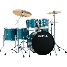 TAMA TAMA Imperialstar 6pc Complete Kit w/ MEINL HCS Cymbals Hairline Blue