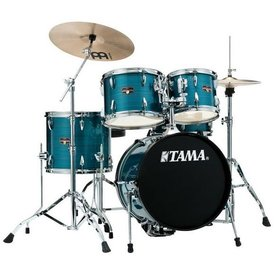 TAMA TAMA Imperialstar 5pc Complete Kit w/ MEINL HCS Cymbals Hairline Blue
