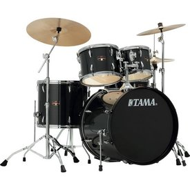 TAMA TAMA Imperialstar 5pc Complete Kit w/ MEINL HCS Cymbals Hairline Black