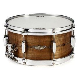TAMA TAMA S.L.P. Series 8''x14'' Bubinga snare drum Natural Quilted Bubinga