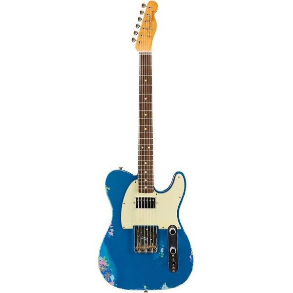 Fender Custom Shop Limited Edition Heavy Relic H/S Tele, Lake Placid Blue over Blue Flower