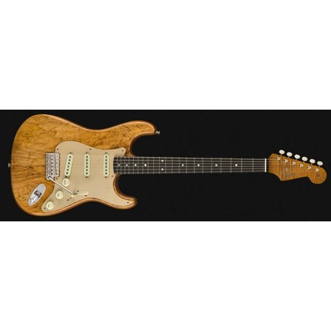 Spalted Maple Artisan Stratocaster, Roasted Maple Fingerboard, Natural