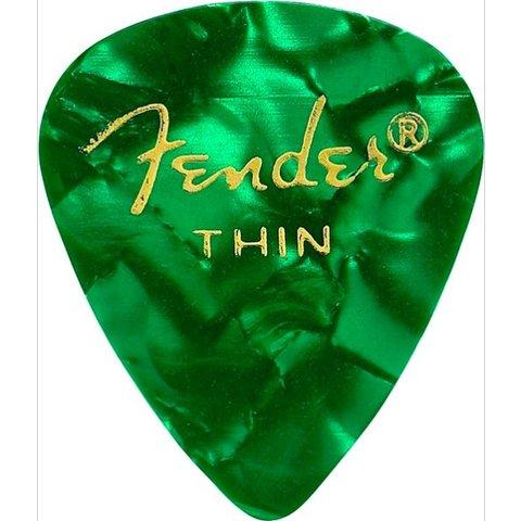 Fender 351 Thin Green Moto Picks 12 pk