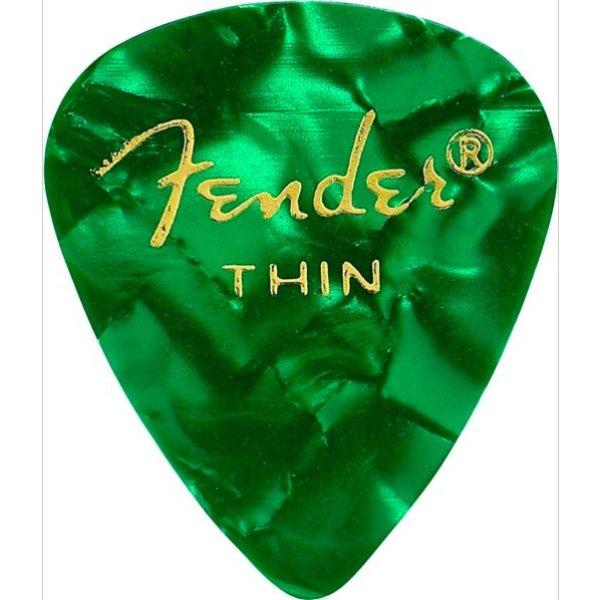 Fender Fender 351 Thin Green Moto Picks 12 pk