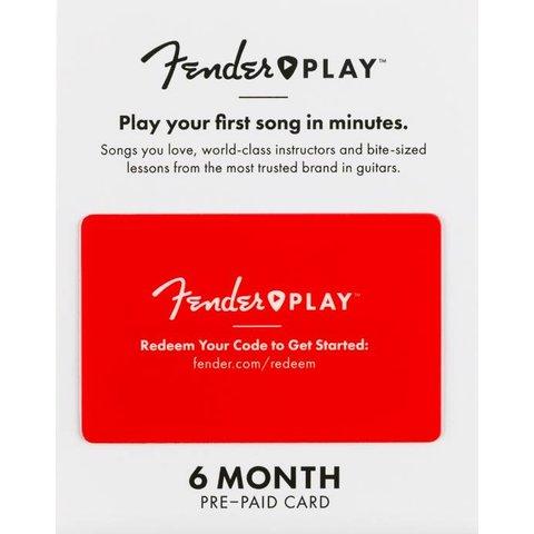 Fender Play 6 Month Subscription Prepaid Card